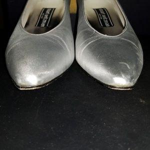 Stuart Weitzman Shoes - STUART WEITZMAN CORNICHE LEATHER SHOES SIZE 9 1/2B
